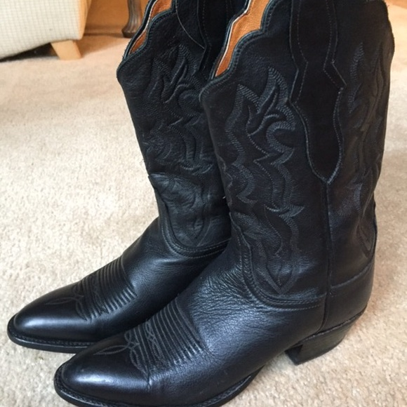 6d20b35822c Lucchese 2000 Black Cowboy Boots